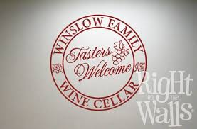 Family Name Wine Tasters Wall Decals Vinyl Art Stickers