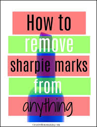 how to remove sharpie marks from
