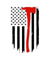 Firemans Axe Thin Red Line American Flag Vinyl Car Decal Etsy In 2020 Fire Fighter Tattoos Dragon Tattoo Back Piece Car Decals Vinyl