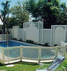 Lattice Pool Safety Fence Swimming Pool Safety Diy Pool Fence