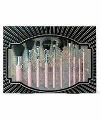 pink 10 piece makeup brush set