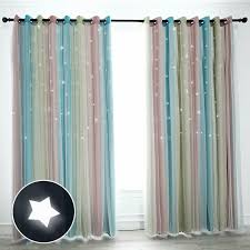 Hughapy Star Curtains Stars Blackout Curtains For Kids Girls Bedroom Living Room Ebay