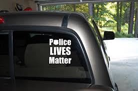 Police Lives Matter Window Decal 5 2 Buy Online In Bahamas At Desertcart