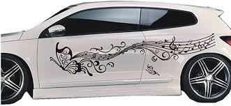 Amazon Com Bininbox 1 Set Car Auto Body Sticker Butterfly Self Adhesive Side Truck Vinyl Graphics Decals Black Automotive