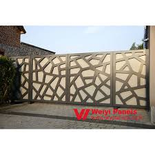 Customized Laser Cut Aluminum Panel Modern Fence Gate Design