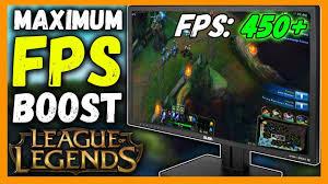 Maximum FPS Boost for League of Legends ...