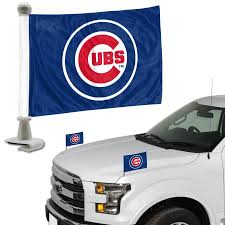 Fanmats Mlb Chicago Cubs 2 Piece Ambassador Flag Set In The Exterior Car Accessories Department At Lowes Com