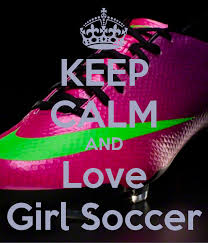 keep calm and love soccer poster