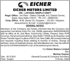 eicher eicher motors limited