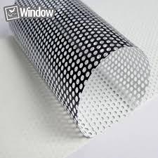 White Window Film Perforated One Way Vision Print Media Vinyl Window Decal Film Car Window Film 1 37x30m Roll Front Window Aliexpress