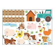 Cattle Dog Fence Farm Animals Removable Kids Room Home Decoration Wall Stickers Sticker Wall Decals Sticker Wall Decor From Jaffaga004 5 92 Dhgate Com