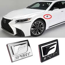 F Sport Emblem Car Fender Tail 3d Sticker For Lexus Rx300 Is300 Nx Gs300 Ct Gx470 Ix350 Es Ls Rc F Decal Car Accessories Car Stickers Aliexpress