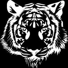 20x20cm Powerful Tiger Head Motorcycle Vinyl Decal Car Sticker Personality Car Styling S6 2033 Retail11