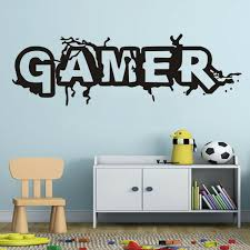 Gamer Tag Vinyl Wall Decals Removable Art Video Games Sticker For Boys Rooms For Sale Online