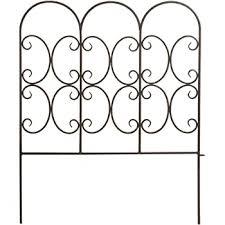 Amazon Com Panacea Triple Arch Border Fence Black 31 H Pack Of 12 Garden Outdoor