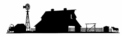 Barn And Corral Silhouette