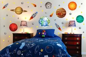 Outer Space Room Planet Wall Decals Kids Wall Stickers Peel Etsy