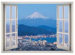 Mountain Snow Winter Window 3d Wall Decal Art Mural Home Decor Canvas Vinyl W102 Ebay