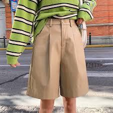 pu leather shorts women s autumn winter