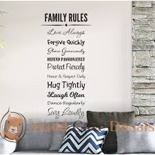 Family Rules Vinyl Wall Decal