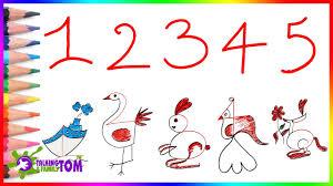 Dạy bé tập vẽ sáng tạo từ con số thành con vật