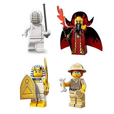 Buy Lego Collectible Minifigures Series 13 71008 Bundle Paleontologist Fencer Evil Wizard Egyptian Warrior Online At Low Prices In India Amazon In
