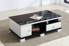 glass top modern coffee table