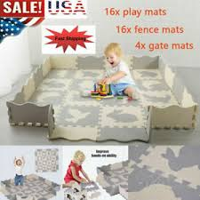 Eva Baby Play Mat With Fence Interlockin Foam Floor Tiles With Crawling Fun Mat Ebay