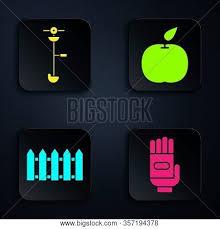 Set Garden Gloves Vector Photo Free Trial Bigstock