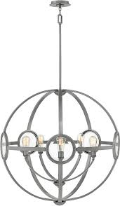 modern polished antique nickel pendant