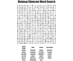 makeup wordsearch wordmint