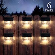 Solar Deck Lights Led Outdoor Garden Decorative Wall Mount Fence Post Lighting 6pack