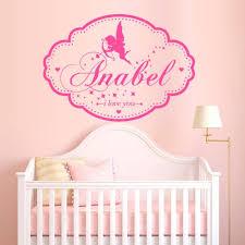 Amazon Com Wall Decal Custom Baby Name Plate Angel Wings Cupid Love Word Letter M1390 Handmade