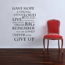 inspirational quote wall stickers family lettering wall decals