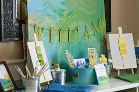 A Painting Themed Birthday Party