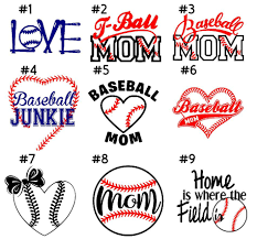 Baseball Mom Decal 5 Bumper Stickers Proud Parent Etsy Baseball Car Decals Baseball Mom Baseball