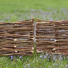 Woven Willow Border Fence Set Terrain