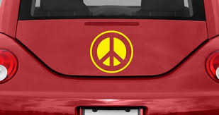 Peace And Love Car Decals Dezign With A Z