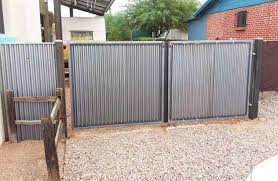 Corrugated Steel Gates Made In Tucson Affordable Fence And Gates