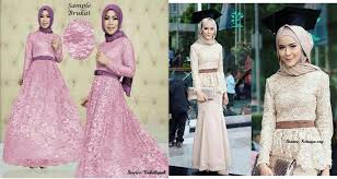 See more ideas about dresses, fashion, brokat. Gaya Busana Dress Brokat Muslimah Terbaru 2018 Molzania