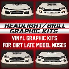 Race Car Headlight Grill Vinyl Decal Graphic Kits Ebay