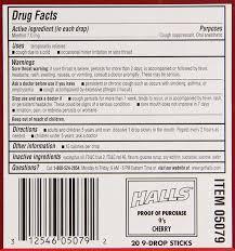 halls cough drops cherry 9 drops 20