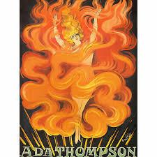 Galicia Singer Dancer Ada Thompson Fire Vintage Advert XL Canvas ...