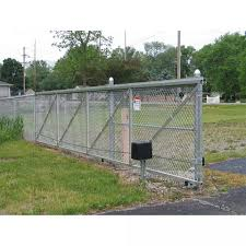 All Aluminum Chain Link Fence Double Swing Gate 2 1 5 8 Aluminum Sch40 Frame Hoover Fence Co