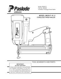 paslode im250 2nd fix cordless nail gun