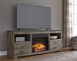trinell fireplace tv stand large tv