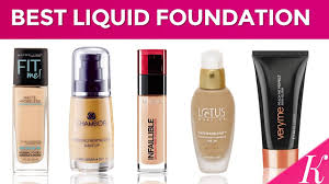 liquid foundations in india with