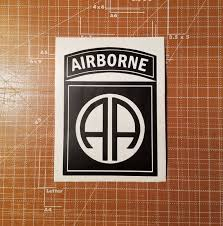 Army 82nd Airborne Window Vinyl Decal 82nd Airborne Cup Etsy