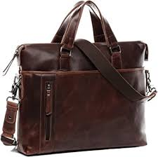 baccini real leather laptop bag leandro