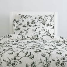 dark green eucalyptus duvet cover
